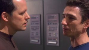 Barking up the Muse Tree | Jespah | Janet Gershen-Siegel | Steven Culp as Major Jay Douglas Hayes with Dominic Keating as Malcolm Reed