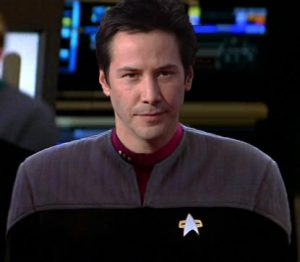 Barking up the Muse Tree | Jespah | Janet Gershen-Siegel | Colony Alien Branch Borodin in Human Form - Keanu Reeves as Branch Borodin (manip is by STPMA's An-Gel Sakura) Image is for educational purposes