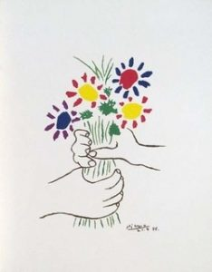 Barking up the Muse Tree | Jespah | Janet Gershen-Siegel | Picasso - Hands Holding Flowers